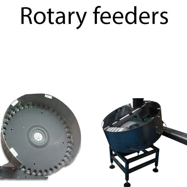 Rotary feeders - Auxiliary elements